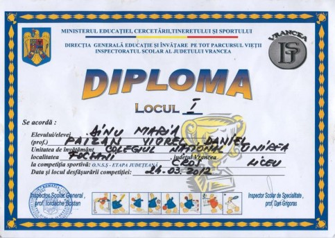 Diploma - Dinu Maria